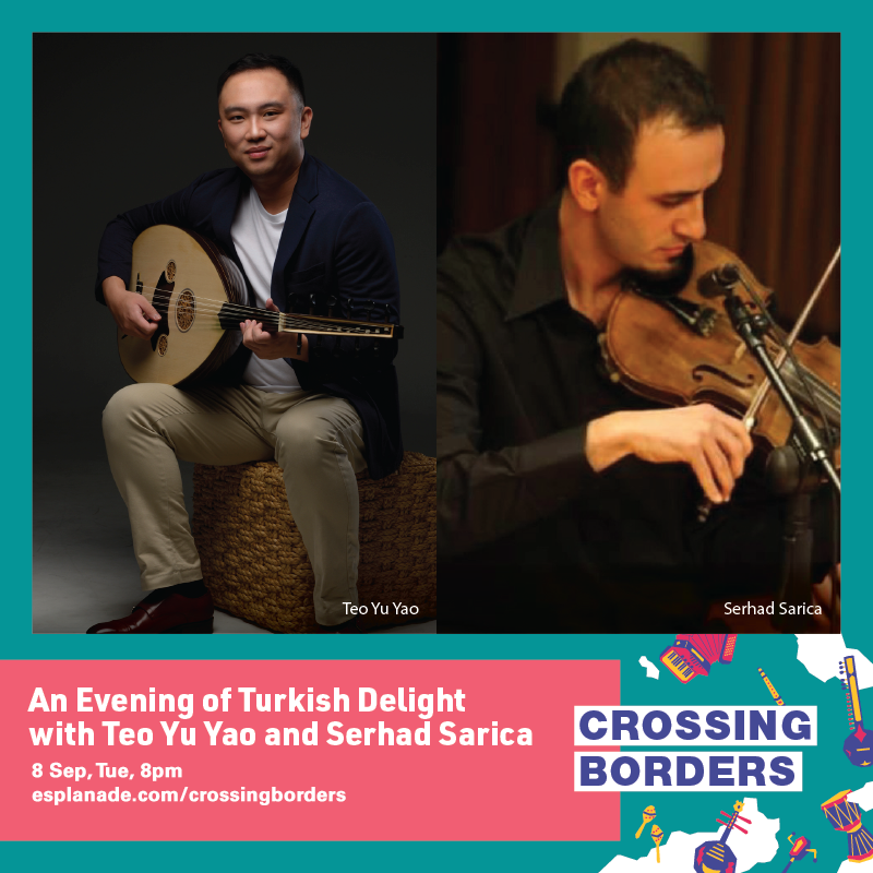poster for crossing border an evening of Turkish delight arts and culture