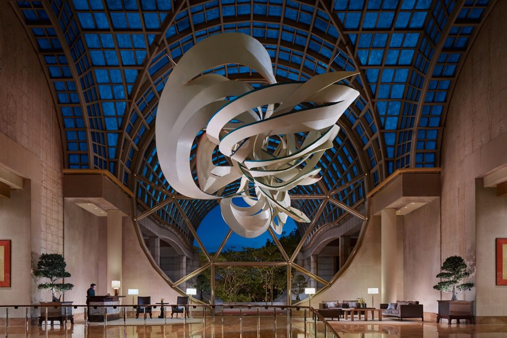 image of an art installation at the ritz Carlton arts and culture